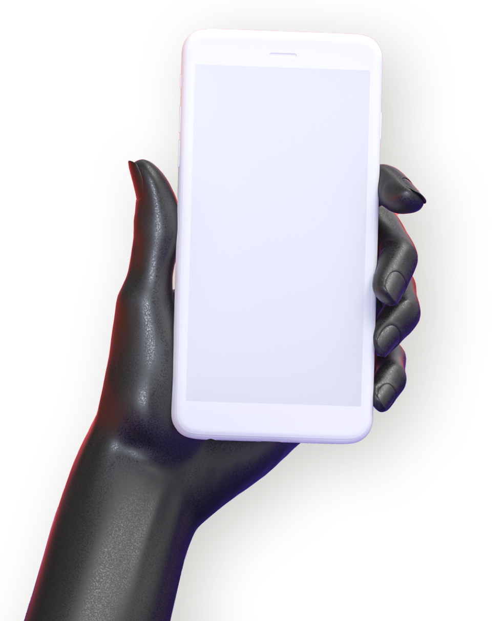 hand with phone